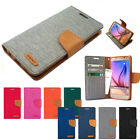 Slim Flip Cover Diary Leather Wallet Case Cover w/Silicone For iPhone Galaxy LG