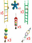 Bird Cage Toy Sets Ladder Bell Ball Wheel Ring parrot Plastic cheap quality