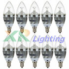 10x E12 (Candelabra) Dimmable 3W 6W 9W High Power LED Chandelier Light Bulb 110V