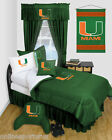 Miami Hurricanes Comforter and Sham Twin Full Queen Size
