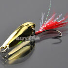 Light 1Pc New Sinking Lure Paillette Tackle Treble Feather Fish Hook Spoon Bait