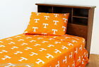 Tennessee Volunteers Sheet Set Twin Full Queen King Size Team Color or White
