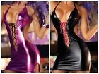 Women's Dress Sexy Pole Dancing Underwear Sleepwear Clothes Lady Patent Leather