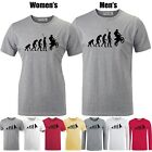 The Evolution of Man Biker Motorbike Bike Black Graphic Short Sleeve T-shirt Tee