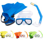 Panoramic Snorkeling Diving Equipment Mask Fins Flippers Snorkels Set 3pcs Kit