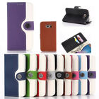 Flip Wallet Leather Back Clear Color Card Cover Skins Case For Samsung Galaxy