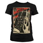 Star Wars - T-Shirt Darth Vader Flames - Femme - Licence officielle