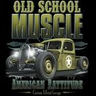 Classic Car T Shirt Old School Muscle Outlaw Garage Route 66 Hot Rod Mother Road