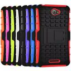 2 In 1 Defender Stand TPU Hard Cover Cases For Sony Xperia E4