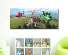 Disney Planes Fire and Rescue Stretched Canvas Print Framed Wall Art Kids Decor