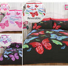 2 In 1 Reversible Butterfly Duvet Cover With Pillow Cases - Printed Bedding Set