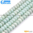 Rondelle Roundel Smooth Amazonite Gemstone Jewelry Making Loose Beads Strand15""