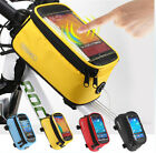 Cycling Bike Frame Front Tube Pannier Bag Touch Phone Pocket Case for Cellphone