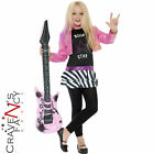 Girls Miley Cyrus Celebrity Singer Glam Punk Rockstar 4-12 Fancy Dress Costume