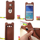3D Cartoon cute bear rabbit soft silicone case cover for samsung galaxy S5 S6 S4
