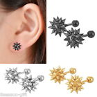 1PC Stainless Steel Bola Punk Ear Stud Unisex Hip-hop Earrings W/Stoppers Chic