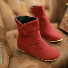 UK C8 Womens Flats Shoes Suede Korean Fashion Ankle Stiletto Boots Plus Size