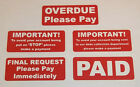 Accounts Stickers - Overdue - Final Request Payment Required - PAID