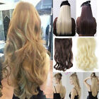 100% Natural Quality Clip In Hair Extensions Half Full Head Brown Black Blonde M