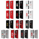 LIVERPOOL FC CREST 1 LEATHER BOOK WALLET CASE COVER FOR LG PHONES 1