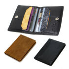Men women's Real genuine leather wallet Purse ID Credit Card Holder black brown