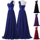 NEW One Shoulder~Long Maxi Evening Party Ball Gowns Prom 2-16 Bridesmaid Dresses