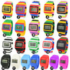 UNISEX Womens Mens LED Watch Stripe Sports Silicone Watches Digital Wristwatch