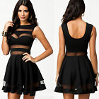 Sexy Womens Casual Club Dress Ball Party Evening Cocktail Mini Dress Black S XS