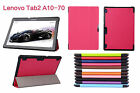 "Ultra Slim Smart PU Leather Case Cover For lenovo TAB2 A10-70 10.1"" Tablet"