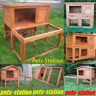 Rabbit Hutch Chicken Coop Guinea Pig Cage Two Storey Rabbit Run, Pull Out Tray