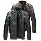 Top Fashion Men's PU Leather Motorcycle Jacket Boutique Luxury Coat Overcoat New