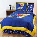 Kansas Jayhawks Comforter and Sham Twin Full Queen Size Cotton CC