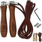 RDX Pro Leather Skipping Speed Rope Adjustable Jumping Weighted Fitness, Workout