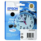 GENUINE EPSON 27XXL ALARM CLOCK SERIES EXTRA HIGH CAPACITY BLACK INK CARTRIDGE