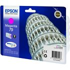 NEW GENUINE EPSON 79 TOWER OF PISA SERIES MAGENTA INK CARTRIDGE (C13T79134010)