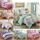 Luxury 100% Cotton Soft Bedding  Doona Duvet Quilt Cover And 2 Pillowcases Set