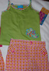 OKIE DOKIE Girls 2T Check Shorts Pretty Young Thing Green Sleeveless Shirt NWT