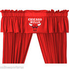 Chicago Bulls Drapes and Valance Curtain Set with Tie Backs