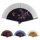 Dancer Wedding Party Plum Blossom Printed Nylon Bamboo Hand Fan Gift Ornament