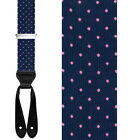 TRAFALGAR CONCORD SILK BRACES SUSPENDERS -$88 VALUE - MULTIPLE COLORS AVAILABLE