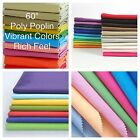 "100% Polyester Poly Poplin Fabric 58/60"" Wide Sewing-Quilting-Tablecloths New!!"