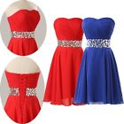 New Short Prom Party Evening dress Homecoming Red Blue bridesmaid Graduation Red