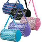 Внешний вид - Kid's Girls Dance Chevron Wave Sequin Duffle Bag Gymnastics Cheer Colors Option