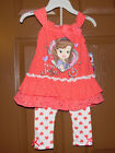 Disney Princess Sofia the First Girls 2pc Pants Outfit Sizes 5 and 6 NWT