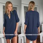 Womens Lady Loose Long Sleeve Tunic Casual Blouse Shirt Tops Fashion Blouse