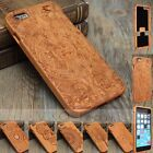 """Natural Carved Wood Wooden Handmade Hard Cover Case For iPhone 6 4.7""""/6 Plus 5.5"""