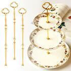 3 Tiers Radian Cake Plate Stand Cupcake Fittings Silver Golden  Party decor new