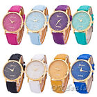 Fashion Women Geneva Snowflakes Watch Leather Band Analog Quartz WristWatch GOOD