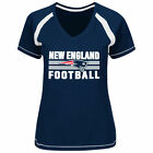 Majestic New England Patriots Women's Navy Plus Sizes Game Day V-Neck T-Shirt
