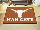 Texas Longhorns Man Cave Area Rug Choose from 4 Sizes Small to Tailgate